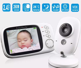 Wholesale Video Color Temperature - Baby Monitor VB603 3.2 inch LCD IR Night Vision 2 way Talk 8 Lullabies Temperature monitor Digital video nanny radio babysitter