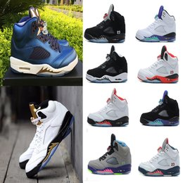 Wholesale Bel Sports - High Quality Air retro 5 men Basketball Shoes low white Cement Olympic Bronze Black Metallic Gold Silver Space Jam Bel Air Sport Sneakers