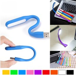Wholesale Portable Notebook Computer - 2017 Fashion Office Desk USB LED Night Light Mini Lamp for Notebook For Power bank PC computer Portable Led Lamp 10 Colors for choice
