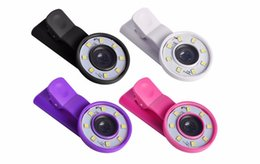 Wholesale Lens For Flashlight - Mini selfie Flash Light Filling LED Flashlight with Clip Wide Angle Lentes Fish Eye Lenses Macro Lens For Smartphone Tablet with retail box