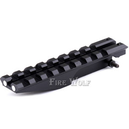 Wholesale Scope For Ak - Tactical Picatinny Rear Weaver 20mm Rail Mount For AK Series Airsoft Electric Gun AEG AK 47 Sight Rail Hunting Scope Mount