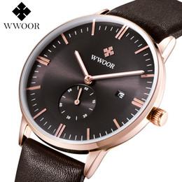 Wholesale Fast Calendar - Luxury authentic brand Swiss watch men's watch simple leather belt table, calendar watch wholesale stock fast delivery