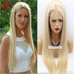 Wholesale Ladies Short Wigs - Top Quality #24 Blonde Color 180 Density 26 Inch Full Lace Wig Silky Straight Human Hair Wigs With Silk Top