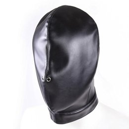 Wholesale New Bondage - NEW Fetish Erotic Toys PU Leather Bondage Hood With Eye Mask Mouth Gag Sex Slave Mask BDSM Bondage Restraints Sex Toys for Couples
