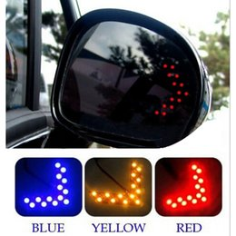 Wholesale Turn Signal Rear View Mirror - Wholesale-2 Pcs lot 14 SMD LED Arrow Panel Car Styling For Car Rear View Mirror Indicator Turn Signal Light Car LED Rearview Mirror Light