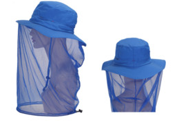 Wholesale Red Mosquitos - Outdoor Sport Fishing cap Visor Hat UV Protection Face Neck Cover Fishing Equipment Men Women Mosquito Hat