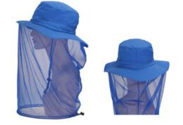 Wholesale Uv Sun Cream - Outdoor Sport Fishing cap Visor Hat UV Protection Face Neck Cover Fishing Equipment Men Women Mosquito Hat