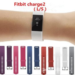 Wholesale Silicone Wristband Bracelet Buckle - Silicone Smart Strap For Fitbit Charge 2 Fitness Replacement Watch Band Loop Buckle Bracelets Straps for Fitbit Charge 2
