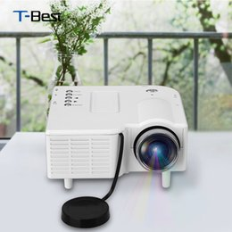 Wholesale cinema mini - Wholesale-Excelvan GM40 Portable Mini Projector Multimedia Cinema Digital LED Projector VGA USB SD AV HDMI Portable Beamer Proyector
