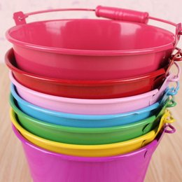 Wholesale Plastic Bucket Beach Toys - Chilren water bucket toy beach pail toldders sand paly water fun mini pail wholesale Top quality