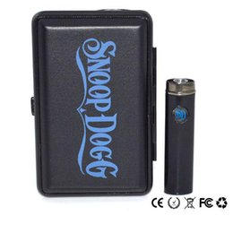 Wholesale Dry Herb Charger - Travel Suit Snoop Dog Wax Dry Herb Vaporizer kit Flat Shape Snoop Dog SD-17 with Replacement Coils Passthrough E cigartte Charger