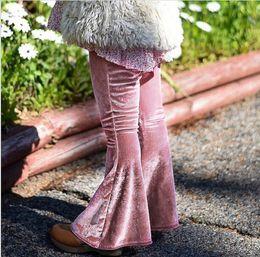 Wholesale Harem Velvet - Ins Baby Girls Velvet Pants Kids Girls Fashion Flare Trouser Babies Autumn Casual Pants 2017 Baby Christmas Clothing