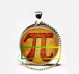 Wholesale Greek Silver Jewelry - Wholesale Pi Necklace,Mathematics Math Jewelry, Mathletes Greek Letter Art Pendant Necklace
