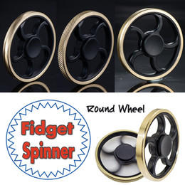 Wholesale Toy Bike Wheels - Round Wheel Brass Hand Fidget Spinner Metal Aiming Circle Finger Spinner Fidget Toy Hand Spinner Decompression Toys For Kids And Adults