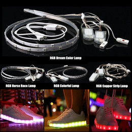 Wholesale Dream Led 3528 - Waterproof 60CM USB Battery 18 20 23 24 LED Strip Light RGB SMD 3528 5050 2040 Dream Color Horse Race Lamp Strip Shoes Light