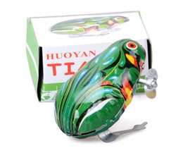 Wholesale tin toys wholesale - With Retail Box Wind-up Frog Animal Jumping Toys Kids Classic Tin Wind Up Clockwork Toys Funny Children Toy