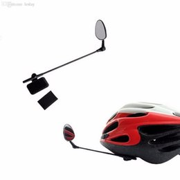 Wholesale back view mirror - Wholesale-2016 Bike Bicycle Motorbike Cycling Helmet Rear View Back Rearview Safety Mirror Best Sellersnew brand