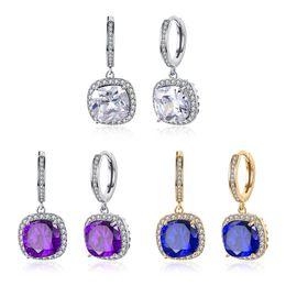 Wholesale Jewelry Ear Cuff Hoop Earring - Fashion K Gold Jewelry Women's Girl's Earrings Charm Earrings Ear Cuff with Big Cubic Zirconia Best Gift