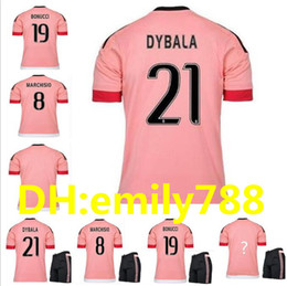 Wholesale Italia Football - 2015 16 Old Pink Juv Legion jerseys DYBALA Soccer Jerseys CHIELLINI POGBA MARCHISIO Pirlo Higuain Alex Sand Coppa Italia Football Shirts