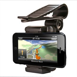 Wholesale Pda Clip - Wholesale- NOPNOG Mobile Phone Stand Bracket Sun Visor Mount Clip Car Phone Holder For GPS PDA MP4 Camera Digital DVR For iPhone Samsung