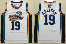 Wholesale Good Rocks - Bricklayers Aaliyah Jersey 1996 MTV Rock N Jock 19 Aaliyah Basketball Jerseys Color Team White Embroidery For Sport Fans Good Quality