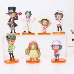 2019 coleção de brinquedos de uma peça 7 pçs / set One Piece Sabo Figura de Ação Coleção PVC figuras brinquedos para brinquedos de presente de natal Collectible desconto coleção de brinquedos de uma peça