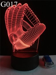 Wholesale Cheap 3d Mouse - Cheap Beautiful 3D Rugby Gloves Desk Lamp LED Night Lights with Home Decoration as Holiday Gifts