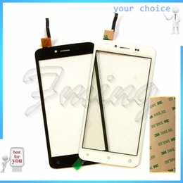 Wholesale Mobile Phone Screen Glass Lens - Wholesale- 5.0 inch Mobile Phone Touchscreen Panel For Fly FS505 Nimbus 7 FS 505 Touch Screen Digitizer Front Glass Lens with 3m Stciker