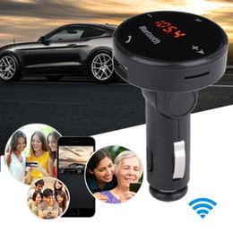 Wholesale A3 Bluetooth - Wholesale-LCD Display Bluetooth Car Kit Hands-free Telephone Car MP3 Player FM Transmitter Modulator SD USB Charger LED TF Remote E#A3
