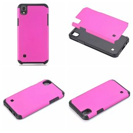 Wholesale Case Hd Lg - Slim Armor Rugged Hybrid Case For LG Tribute HD X Style LS676 Hard Plastic PC+TPU ShockProof Fashion Dual Layer Beetle Defender Skin Cover