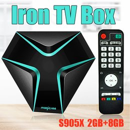 Wholesale Wholesale Core Power - New Free Streaming TV Box MAGICSEE Iron 2GB 8GB powered by Amlogic S905X Fully Loaded Android 6.0 Box Smart Media Player