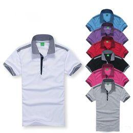 Wholesale Polka Dot Top L - Top Quality 2017 summer embroidery Horse Polo Shirts man cotton polo shirts Men Short Sleeve Casual Shirts Man's Solid Polo Shirt Camisa