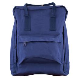 Wholesale Double Shoulder - New Canvas Print Waterproof Backpacks Casual Zipper Closure Knapsack Bags Women's Double Shoulder Bags Top Quality New Design fashion solid