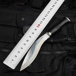 Wholesale Plastic Hunting Knife - Dog Leg Tactical Knife,5Cr13Mov Blade Hunting Fixed Blade Camping Outdoor Knives,Survival EDC Tools,Straight Knife ABS Handle