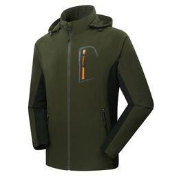 Wholesale Sports Tex - Mens Softshell Fishing Jackets Men Outdoor Sports Waterproof Thin Coats Male Hiking Trekking Brand Clothing A012