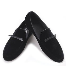 Wholesale Dance Shoes Slippers - In 2017, a new handmade leather shoes tie is designed for fashion dances and banque men's smoking slippers and men's apartments