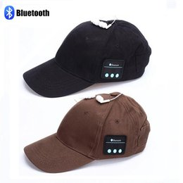 Wholesale Cell Phone Ear Caps - Wireless Bluetooth Sports Baseball Cap Canvas Smart Sun Hat Music Headphone Speaker Handsfree with Mic for Smart Phone