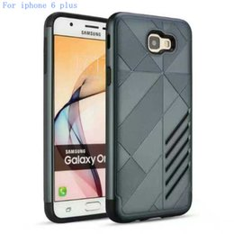 Wholesale Galaxy 4g Cases - For iphone 6 plus 5G 4G Armor Mars Hybrid Case For Samsung galaxy S7 edge plus S6 edge plus Shockproof Back Phone Cover
