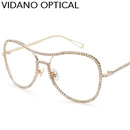 Wholesale Diamond Frame Sunglasses - New Arrival Vidano Optical High Quality Luxury Crystal Diamond Sunglasses For Women 2017 Europe Fashion Designer Choice UV400 Protection