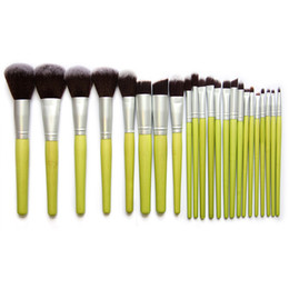 Wholesale Eyeshadow Brush Bamboo - 23 Pcs Bamboo Brush Makeup Brushes Set Powder Blusher Foundation Eyeshadow Cosmetic Brush Artifical Hair Brush Tools