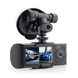 "Wholesale Tft Lcd Dvr - Dual Camera Car DVR R300 with GPS and 3D G-Sensor 2.7"" TFT LCD X3000 FHD 1080P Cam Video Camcorder Cycle Recording"