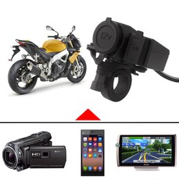 Discount power socket waterproof 12v - Waterproof 12V Motorcycle Handlebar Cigarette Lighter Power Adapter Charger With 5V 2.1A USB Socket MOT_600
