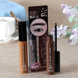 Wholesale Eye Brow Dye - NEW Eye Brow Tattoo Tint Waterproof Long-lasting Peel Off Dye Eyebrow Gel Cream Mascara Make Up Pen Korean Cosmetics NOVO Eye Makeup 1PCS