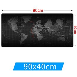 Wholesale Mouse Pad World - Large Size 90cm*40cm grande World Map mouse pads Speed Computer Gaming Mouse Pad Locking Edge Table Mat