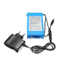 Wholesale 12v Lithium Ion Battery Packs - 6800mAh for DC 12V Super Protable Rechargeable switch Lithium-ion Battery Pack US Plug For Cameras camcorders