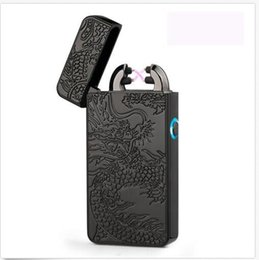 Wholesale Arc Green - Electric Dual Arc Flameless USB Rechargeable Windproof Plazmatic X Lighter Black