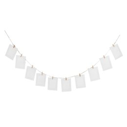 Wholesale Diy Paper Clip - 10pcs DIY 6inch Hanging Album Clip Kraft Paper Photo Frame Strings Rope Clips Sets for Wedding Decoration Garland (White)