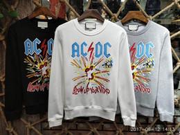 Wholesale Ac Dc Fashion - 2017 Men AC DC BLOWUP YOUR VIDED Printing Top Sweatshirts Long Sleeve hoodie Shirts Brand New gray size M-XXL