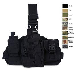 Wholesale Tactical Molle Fabric - Outdoor Sports Assault Combat Camouflage Molle Pack Nylon Fabric Quick Release Camo Tactical leg Holster NO11-851