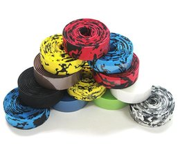 Wholesale Bike Handle Tape - New 2017 Racing ROAD bike Handle Belt Bicycle EVA Handlebar Tape Color and Camouflage camo black colors Excellent quality bicycle belt